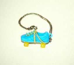 Toy Vending Prize Blue Roller Skates Skate Necklace Pendant