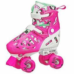 Roller Derby Trac Star Girl's Adjustable Roller Skate, White