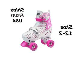 Roller Derby Girl's Trac Star Adjustable Roller Skate, White
