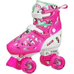 ROLLER DERBY TRAC STAR YOUTH GIRL'S ADJUSTABLE ROLLER SKATE