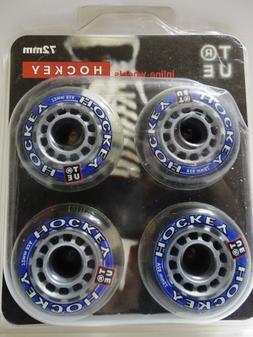 True Inline Hockey Wheels 72mm 82A Roller Skates