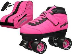 Epic Turbo Nitro Indoor Outdoor Pink Quad Roller Speed Skate