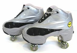 UNIQUE Quad KICK ROLLER Skates retractable WALKnROLL BN Silv