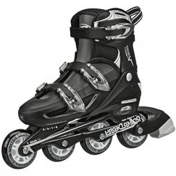 Roller Derby V-Tech 500 Adjustable Mens Black White Large 6-