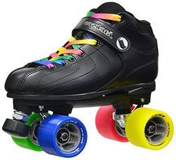 Jackson Vibe-Rant Quad Roller Speed Skates with 2 Pair of La