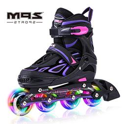 2PM SPORTS Vinal Girls Adjustable Inline Skates with Light u