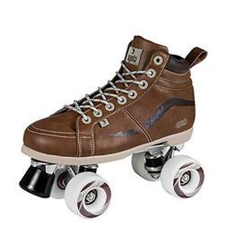 Chaya Vintage Brown Neat Quad Roller Skates - Vegan
