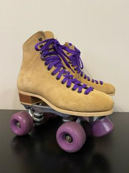 Vintage Riedell Red Wing Roller Skates Sz 7 Sure Grip Suede