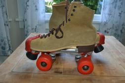 Vintage Riedell Jogger Sure Grip Roller Skates Kryptos Wheel