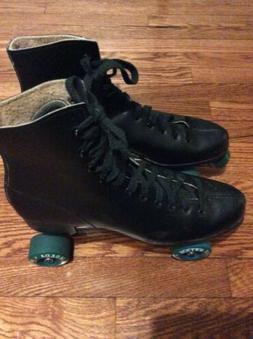 Vintage Roller Star Derby Skates Men's Black Size 11 Nice