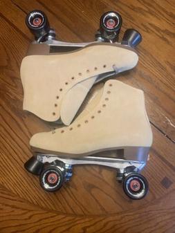 Vintage Sure Grip 1300 Tan Suede Roller Skate Men's Size 1