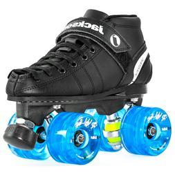 Jackson VIP Outdoor Roller Skates - Atom Pulse Blue Wheels L