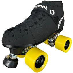 Jackson VIP Rink Quad Roller Speed Skates JR200 with Snap Wh