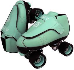 VNLA Junior Jam Mint Roller Skates - Toe Stop or Jam Plugs