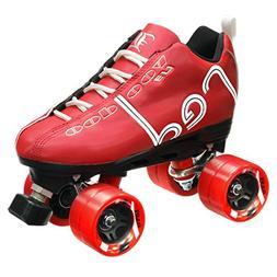 Labeda Voodoo U3 Quad Roller Customized Red Speed Skates wit