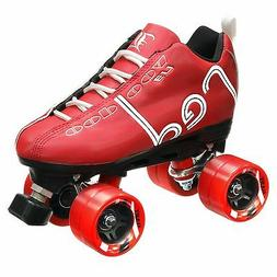 Labeda Voodoo U3 Quad Roller Speed Skates Customized Red w/