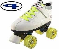 White Mach-5 GTX-500 Quad Speed Roller Skates Light Up Wheel