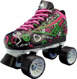 Women and Girls Pacer Heart Throb Black Roller Skates