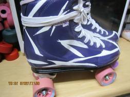 Women  Pink & White  Roller Skates, size 11, heel to toe is