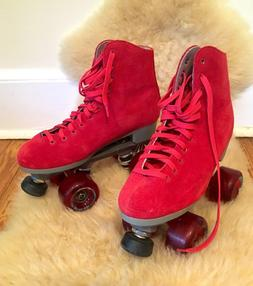 ***  Women's Cherry Red Sure Grip Roller Skates - Size 6  **
