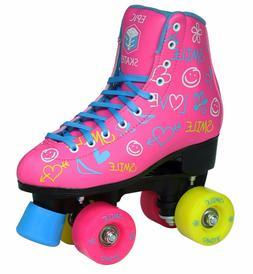 Women's Epic Blush High-Top Quad Roller Skates w/ 2 pr of La