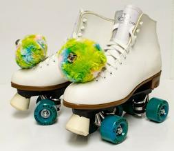 Women's white high top Roller Skate