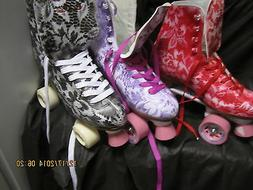 Women sz 6 TO10, Black, Red. Purple   Heel to toe 10 1/2 in