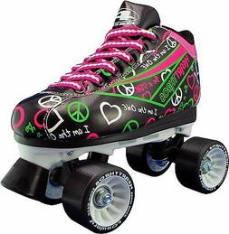 Womens and Children Roller Skates Size 1-10 - Black Pacer He