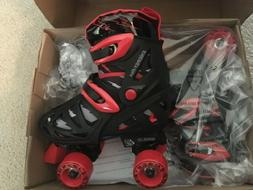 Pacer XT70 Boys Roller Skates BLACK WITH RED size 3- 6 / N
