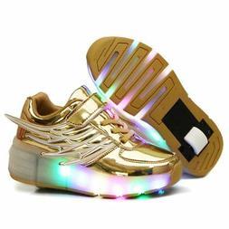Nsasy YCOMI Girl's Boy's LED Light Up Single Wheel Skate Sho