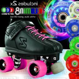 Zoom PINK Speed Skate Roller Skates with 2 LED Super Bright