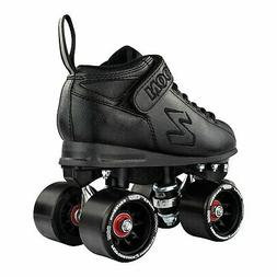 Zoom Roller Skates by Crazy Skates | Black Quad Speed Skates