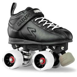 Zoom Speed Skate Quad Roller Skates with WHITE Custom Kit PL