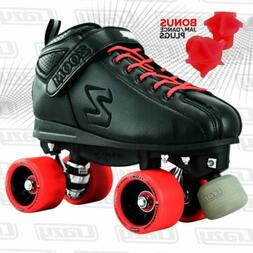 Zoom Speed Skate Quad Roller Skates with RED Custom Kit PLUS