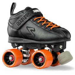 Zoom Speed Skate Quad Roller Skates with GREEN Custom Kit PL
