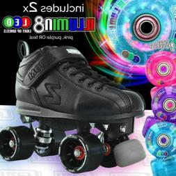 Zoom Speed Skate Quad Roller Skates with 2 LED Super Bright