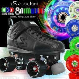 Zoom Speed Skate Quad Roller Skates with 2 LED Colour wheels